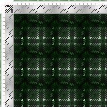 Drawdown Image: Figurierte Muster Pl. XL Nr. 2, Die färbige Gewebemusterung, Franz Donat, 8S, 8T