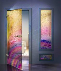 Fused glass door this is beautiful fused glass pinterest 15 modern interior glass door designs for inspiration planetlyrics Gallery