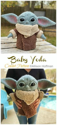 Most up-to-date Totally Free Crochet animals for boys Suggestions 8 Amigurumi Yoda Crochet Patterns – Crochet & Knitting Crochet Gratis, Crochet Patterns Amigurumi, Amigurumi Doll, Crochet Toys, Crochet Stitches, Knitting Patterns, Knitted Doll Patterns, Knitting Yarn, Crochet Whale