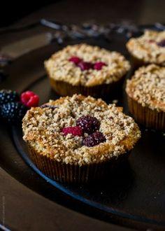 Mixed Berry Pecan Coffee Cake