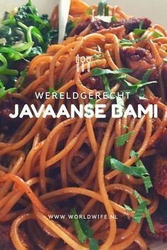 Javaanse bami (récept) - Lilly is Love Dutch Recipes, Asian Recipes, Cooking Recipes, Healthy Recipes, Bami Recipe, Suriname Food, Exotic Food, Caribbean Recipes, Indonesian Food