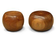 Nugget Wood Stool - Citriodora
