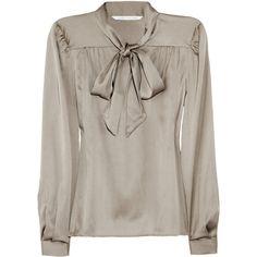 Diane von Furstenberg Trelodie stretch-silk blouse ($123) ❤ liked on Polyvore