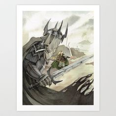 """""""Eowyn and the Witch King"""" Art Print by MichelleLynne - $17.00"""