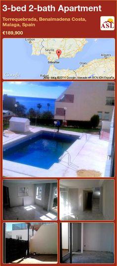3-bed 2-bath Apartment in Torrequebrada, Benalmadena Costa, Malaga, Spain ►€189,900 #PropertyForSaleInSpain