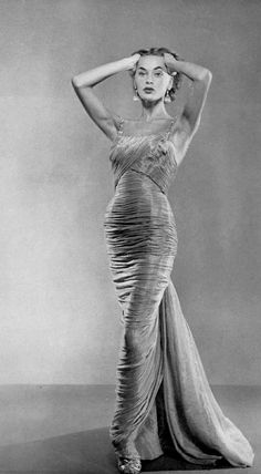 Ghislaine Arsac in Jean Desses. Photo P. de Harambure 1955