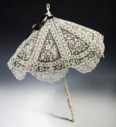 White lace umbrella.