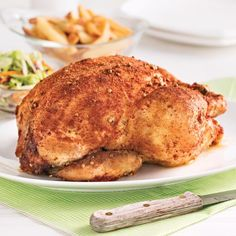 Poulet entier grillé à la mijoteuse Slow Cooker Recipes, Cooking Recipes, Roast Chicken, Crockpot, Chicken Recipes, Healthy Lifestyle, Barbecue, Turkey, Healthy Eating