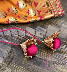 Saree Tassels Designs, Saree Kuchu Designs, Choli Blouse Design, Rakhi Design, Baby Dress Patterns, Stylish Blouse Design, Designer Blouse Patterns, Fabric Jewelry, Hand Designs