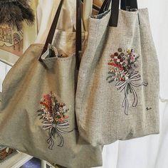 #프랑스자수  꽃가방 #자수나무 #embroidery