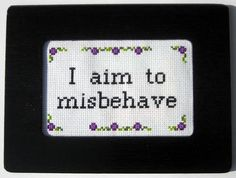 Whedonverse themed needlework - NEEDLEWORK - Some Whedonverse themed needlework I made for the last Whedonverse swap.I made a felt embroidery of Jayne from Firefly for one of my partners. Embroidery Floss Projects, Felt Embroidery, Learn Embroidery, Cross Stitch Embroidery, Embroidery Patterns, Cross Stitch Designs, Cross Stitch Patterns, Beaded Cross Stitch, Cross Stitching