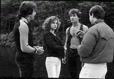 """On the set of """"Dirty Dancing"""" Old Movies, Great Movies, Iconic Movies, Dirty Dancing Quotes, Robin Williams Movies, Kenny Ortega, Patrick Wayne, Jennifer Grey, Movie Facts"""