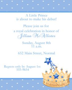 photo relating to Free Printable Prince Baby Shower Invitations titled 35 Least complicated prince invites photos inside of 2018 Youngster boy shower