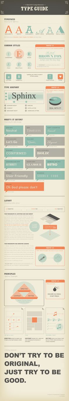 A quick and comprehensive type guide by Noodlor #typography #fonts #infographics