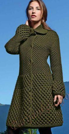 Your Online Wool Shop specialists in Bergere de France Gilet Crochet, Crochet Coat, Crochet Tunic, Knitted Coat, Crochet Clothes, Cardigan Pattern, Jacket Pattern, Thick Sweaters, Sweaters For Women