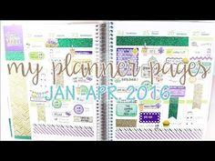My Erin Condren Planner Pages Jan.- Apr. 2016 | MandyPlans