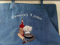 PERSONALIZED Chef Cooking APRON restaurant COLORS baking wine, chef hat BBQ Art #ApartmentK9West