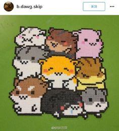 哈哈哈 真是太喜欢这种挤在一起卖萌的小动物了!#拼拼豆豆#