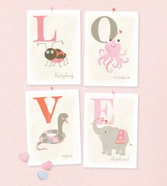 LOVE - Valentine alphabet prints | from Sea Urchin Studio