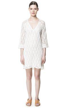 LACE DRESS - Dresses - Woman - ZARA United Kingdom