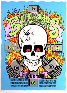 Frank Kozik Butthole Surfers Mighty Mighty Bosstones 1993 US Tour Poster 9342