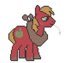 cross stitch pattern My Little Pony Friendship is Magic: Big Macintosh inspired . C2c Crochet, Crochet Cross, Big Macintosh, My Little Pony Friendship, Cross Stitching, Pixel Art, Bowser, Cross Stitch Patterns, Pop Culture
