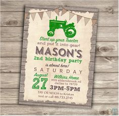 Red Tractor Birthday Printable Invitations Rustic Wood Farm Burlap Tractor Country Theme Party girl boy First Birthday Red Tractor Red Tractor Birthday, Tractor Birthday Invitations, Farm Birthday, Boy First Birthday, Boy Birthday Parties, Birthday Ideas, Country Themed Parties, First Birthdays, Printable Invitations