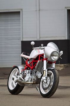 "Belarus' star custom builder has just released ""Ducati Bastardo"". Not the usual custom bike, is it?"