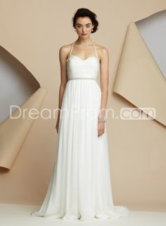 Buy Cheap Cheap Brilliant Empire Halter Sleeveless Floor-length Court Wedding Dresses CH204860 Default Category under $236.79 only in Udressprom.