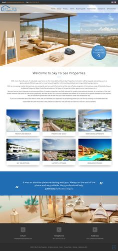 With more than 20 years of real estate experience on the Costa del Sol, Sky to Sea Properties motivation will be to guide and advise you in a personalized, efficient way and to move forward together in this exciting, delicate and responsible buying process. #qresxml #realestate #resalesonline Real Estate Software, Sky Sea, Move Forward, 20 Years, All Design, No Response, Delicate, Motivation, Website