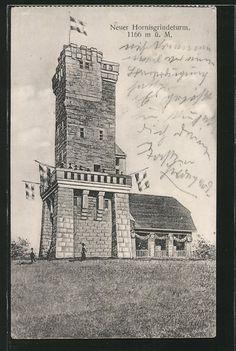 Alte Ansichtskarte: AK Hornisgrinde, Neuer Hornisgrindeturm