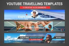 Design and Inspiration Magazine Youtube Banner Backgrounds, Youtube Banners, Art Template, Banner Template, Design Templates, Social Media Template, Social Media Design, Business Brochure, Business Card Logo