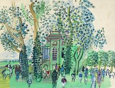 Raoul Dufy (French 1877-1953)  'Le Pesage Ombragé à Deauville' available from Waterhouse  Dodd at Masterpiece London #mymasterpiece