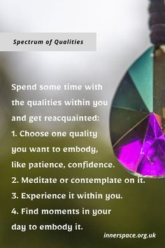 Qualities within you Mind Gym, Covent Garden, Spectrum, Personal Development, Patience, Confidence, Meditation, Mindfulness, Positivity