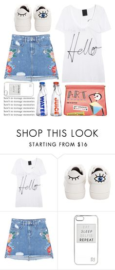 """""""hello"""" by emcf3548 ❤ liked on Polyvore featuring Lot78, Betsey Johnson, MANGO, River Island and Home Essentials"""