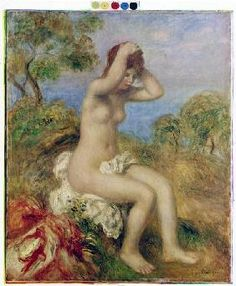 Pierre-Auguste Renoir - Girl taking a bath
