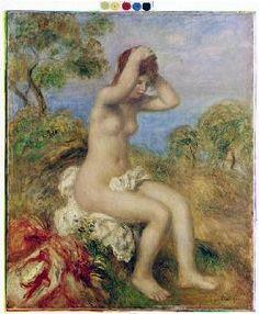 Pierre-Auguste Renoir - Girl taking a bath