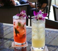Gin, St. Germaine, Guava Puree and Fresh Cucumbers make our 'Pualani', and we combine Fresh Strawberries with Pomegranate and Fresh Lemon Juices to create our 'Pom-Strawberry Lemonade' at #Waiolu.  #TrumpWaikiki #Vacation #Hawaii #Drinks #Cocktails #Cheers #Yum  Trump International Hotel Waikiki Beach Walk - Google+