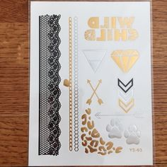 METALLIC FLASH TATTOOS (WILD CHILD EDITION) ❤️Final Markdown ❤️Current Hot Trend Item! Individual sheet of metallic tattoos. So perfect for warmer weather.  Creative, fun addition to any style. Of course they're temporary so you can update as often as you like. Easily converts from day, to special night to vacay! Perfect bundle add on. LOVE THIS ONE! Accessories