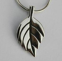 Sterling silver handmade oak leaf pendant on silver snake chain Silver Jewellery, Silver Necklaces, Sterling Silver Jewelry, Handmade Silver, Handcrafted Jewelry, Leaf Pendant, Silver Pendants, Branches, Snake
