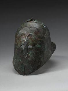 A Pseudo-Corinthian type bronze helmet Circa 5th-4th Century B.C.