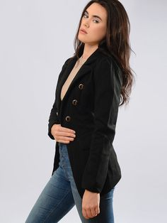 Lapel Double Breasted Plain Coat Only $24.95 USD More info...