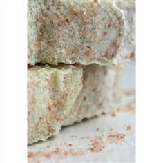 Himalayan Rose Salt Organic Soap - Sweet & salty with a floral scent! Exfoliating Salt Bar with Himalayan Pink Salt infused throughout and sprinkled on top.  Certified Organic Rose powder adds a sweet floral scent that doesn't overwhelm.