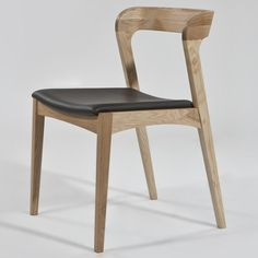 Jastine Dining Chair - Upholstered Seat - Click to enlarge