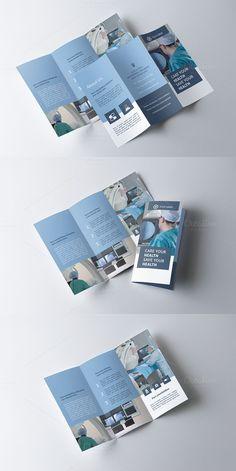 Medicine Tri-fold Brochure HPA Bi Fold Brochure, Brochure Layout, Business Brochure, Brochure Template, Brochure Size, Corporate Brochure, Pamphlet Design, Leaflet Design, Booklet Design