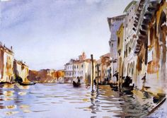 John Singer Sargent (1856 — 1925, USA) The Grand Canal, Venice. c. 1902 watercolour on wove paper. 24.8 x 35.2 cm.
