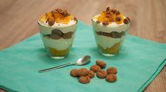 Pepernotentoetje met abrikozen; hét toetje voor in de Sinterklaas periode. De smaak van speculaas combineert perfect met de smaak van de abrikozen.