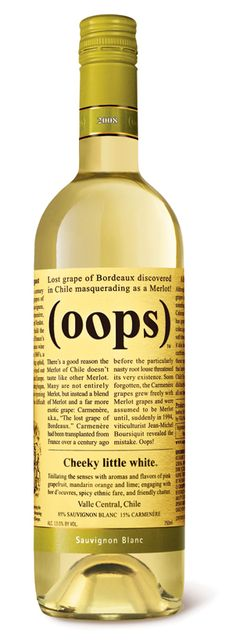 I'm not a big white wine person, but this one is decent. And there's a personal story behind it which involves a thrown-out bottle, a grudge, and the purchase of a whole case...