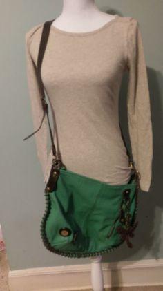 Chala  Hobo Large Tote Bag DRAGONFLY Vegan Leather Teal TRENDING #Chala #Hobo