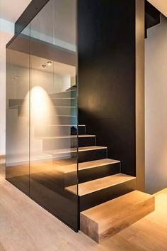 Modern Staircase Design Ideas - Modern stairways can be found in lots of design and styles that can be actual eye-catcher in the different location. We have actually compiled finest 10 modern versions of stairways that can provide. Modern Staircase, Staircase Design, Staircase Ideas, Stairway Lighting, Wall Lighting, Escalier Design, Open Stairs, Interior Stairs, House Stairs